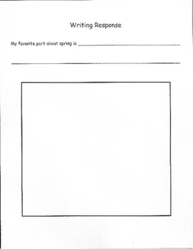 It's Spring ! - A Word Retrieval, Vocabulary and Writing Task