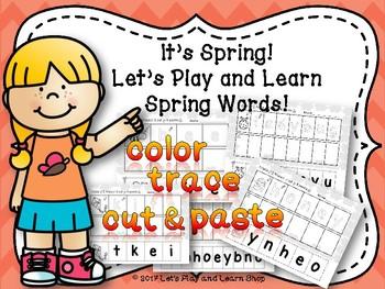 It's Spring! Let's Cut and Paste Spring Words! (Preschool & Kindergarten)
