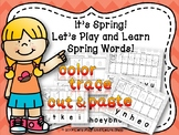 It's Spring! Let's Cut and Paste Spring Words! (Preschool