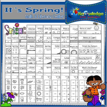 It's Spring! Math & Literacy Center - CCSS Aligned for Kin