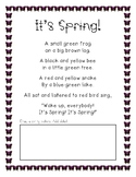 It's Spring Poem and Activity