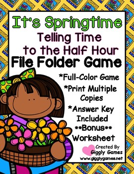It's Springtime Time to the Half Hour File Folder Game *Bo
