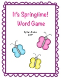 It's Springtime Word Game