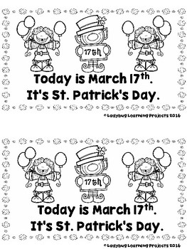 It's St. Patrick's Day  (A Sight Word Emergent Reader and Teacher Lap Book)