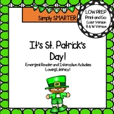 It's St. Patrick's Day Emergent Reader Book AND Interactive Activities