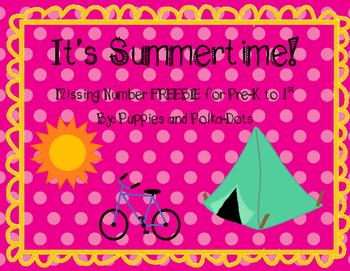 It's Summertime! Math Freebie for Summer School