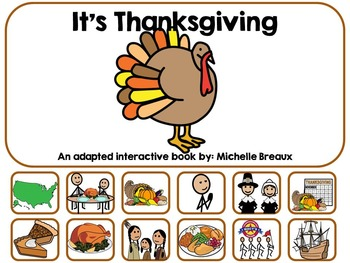 It's Thanksgiving- An Adapted Interactive Book {Autism, Special Education}