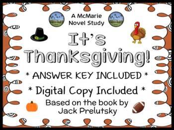 It's Thanksgiving! (Jack Prelutsky) Book Study / Reading Comprehension Unit