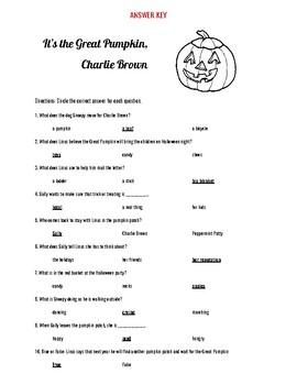 It\u0027s The Great Pumpkin, Charlie Brown Halloween Video Questions,Easy Format