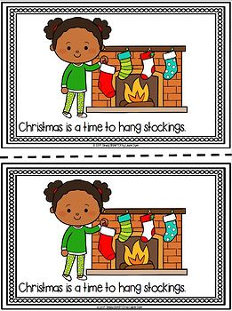 It's Time For Christmas Emergent Reader Book AND Interactive Activities