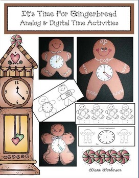 It's Time For Gingerbread! Analog & Digital Time To The Hour & Half Hour