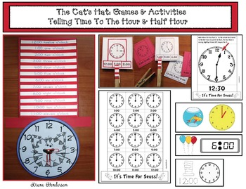 It's Time For Seuss! Telling Analog & Digital Time To The Hour & Half Hour Game