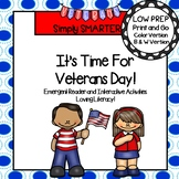 It's Time For Veterans Day Emergent Reader AND Interactive Activities