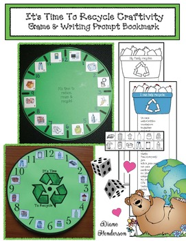 Earth Day: It's Time To Recycle Craftivity Game & Writing Prompt Bookmark