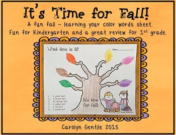 It's Time for Fall!  - color words
