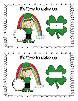 It's Time for Leprechauns - a printable book about time