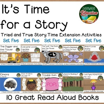 It's Time for a Story 10 Book Bundle SET FIVE 153  Activities for 10 Titles