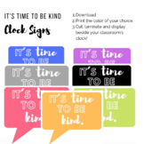 It's Time to Be Kind - Clock Signs