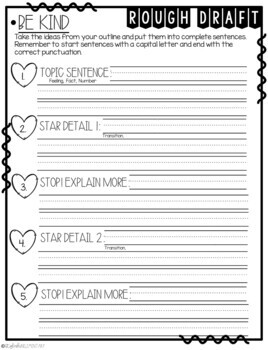 It's Time to Be Kind! How-To Step-Up Paragraph Packet
