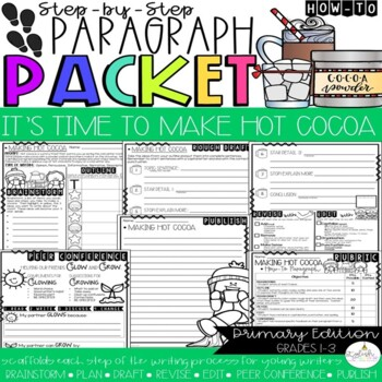 It's Time to Make Hot Cocoa! How-To Step-Up Paragraph Packet