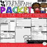 It's Time to Make New Friends! How-To Paragraph Packet