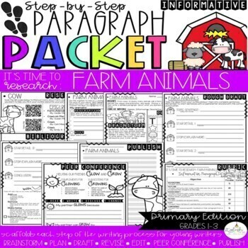 It's Time to Research: Farm Animals - Research/Inform. Step-Up Paragraph Packet