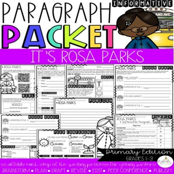 It's Time to Research: Rosa Parks! Paragraph Packet