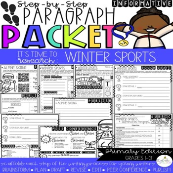 It's Time to Research:The Winter Games! Research/Inform.Step-Up Paragraph Packet