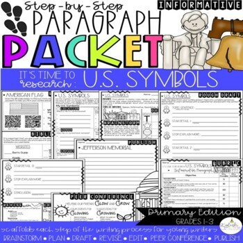 It's Time to Research: U.S. Symbols! Guided Research/Inform. Paragraph Packet