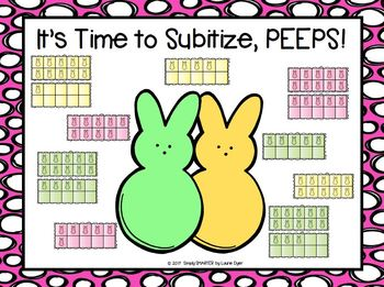 It's Time to Subitize, PEEPS!:  NO PREP Easter Themed Roll and Cover Game