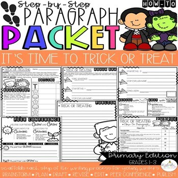 It's Time to Trick or Treat! How-To Step-Up Paragraph Packet