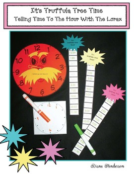 It's Truffula Tree Time! Seuss-Inspired Time To The Hour Game With The Lorax