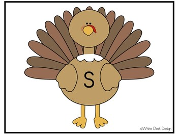It's Turkey Time! Beginning Sound Sort!