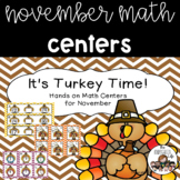It's Turkey Time! November Hands On Math Centers