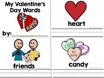 It's Valentine's Day- Adapted Interactive Book {Autism, Early Childhood}