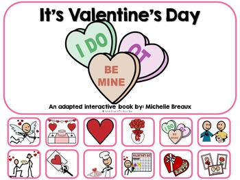It's Valentine's Day- Adapted Interactive Book {Autism, Ea