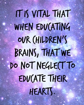 It's Vital When Educating Our Children...space