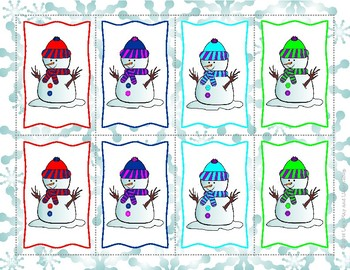 It's Winter! Let's Play With Snowmen! Memory Game