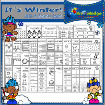 It's Winter! Mather & Literacy Center - CCSS Aligned for Kindergarten
