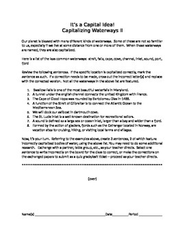 It's a Capital Idea!:  Capitalizing Waterways II