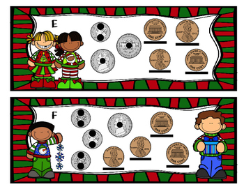 It's a Christmas Sweater Party! Touch Money Task Cards