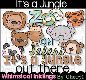 It's a Jungle~Safari~Zoo Clipart Collection