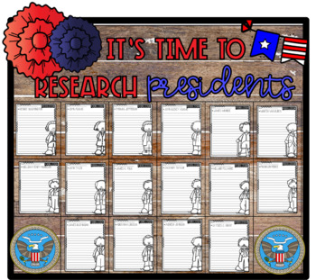 It's Time to Research: Presidents! Research/Infom. Step-Up Paragraph Packet