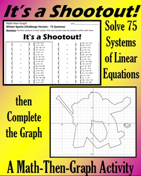 It's a Shootout - Challenge Version - 75 Systems & Coordinate Graphing Activity