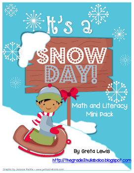 It's a Snow Day! Math and Literacy Mini Pack