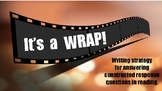 It's a WRAP Writing Strategy Poster ~ Hollywood Theme