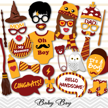 Its A Boy Baby Shower Props Harry Potter Baby Shower Photo Booth