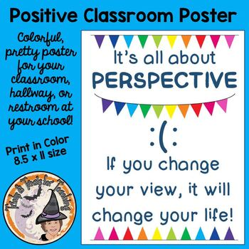 It's all about PERSPECTIVE Motivational Back to School Attitude Spirit Poster