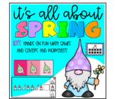 It's all about Spring math centers -  LOTS of hands on math games and centers