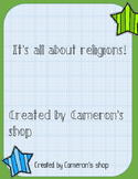 It's all about religions!